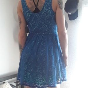 Adorable blue lace dress by Mossimo.